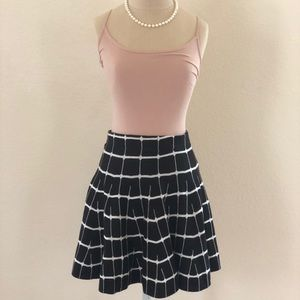 Candie's black and white skirt
